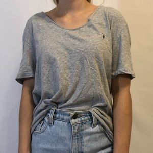 All Saints Gray Loose Fit Tee